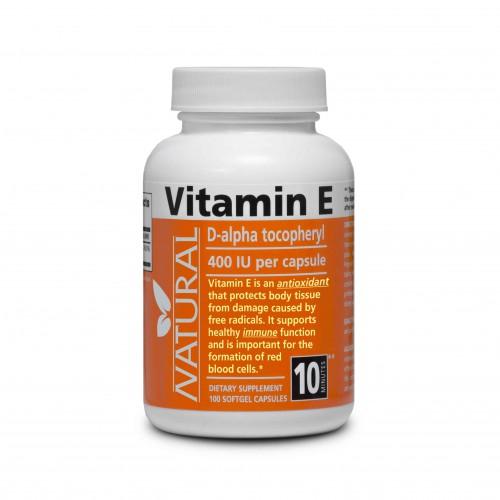 Vitamín E 400 IU prírodný (D-alfa tokoferol) - 100 kapsúl